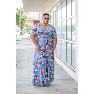 Dresses & Skirts - Floral Maxi Dress  <MAKE AN OFFER>